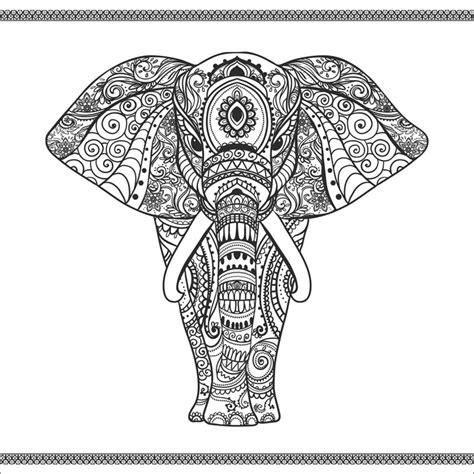 an vino elefant in mandala wandbilder selbstklebend