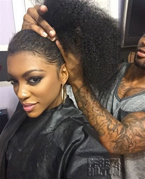 image of porsche williams without hair weave porsha williams real housewives hair revealed see the