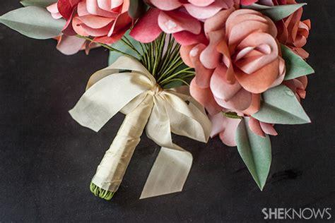 How To Make A Paper Wedding Bouquet - diy paper bridal bouquet