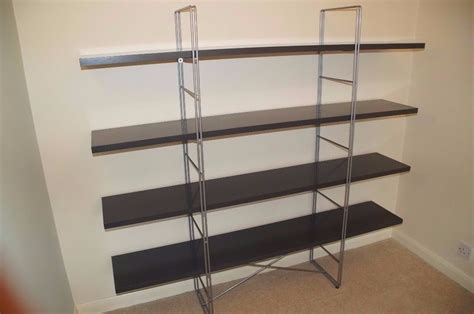 metal rack ikea ikea enetri shelving unit bookshelf grey gloss and metal in east dulwich london gumtree