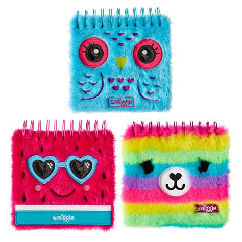 Smiggle Notebook 2 Fluffy Faces Notebook Jotter Smiggle Gift