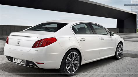 peugeot white peugeot 508 saloon back pose in white color wallpaper