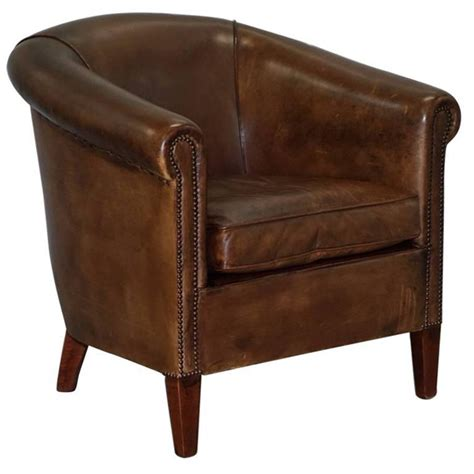 Leather Armchair Brown by Brown Leather Armchair Of Bath Bond At 1stdibs