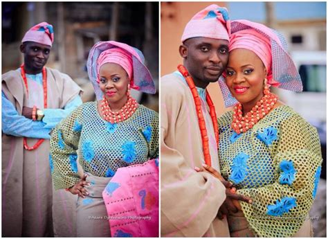 aso oke and lace attires for yoruba traditional weddings see aso oke and lace yoruba traditional wedding attires of