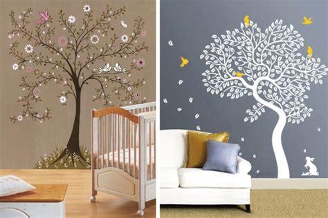 plantillapara decorar arbol decorar paredes con estarcido ideas y plantillas para stencil diario artesanal