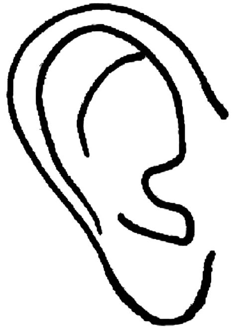 elf ears coloring pages ear of an elf coloring pages kids play color elf ears