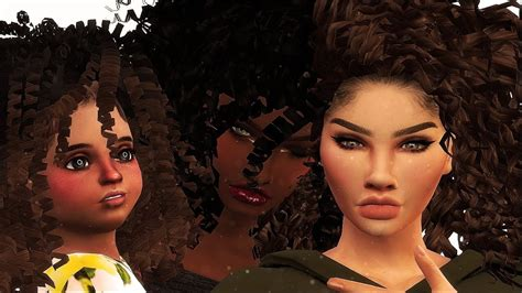 curly headed cuties cas cc links the sims 4 youtube