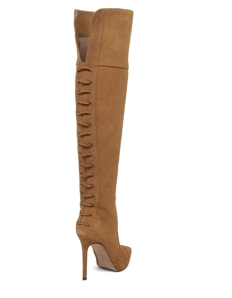 parii suede the knee boots in brown