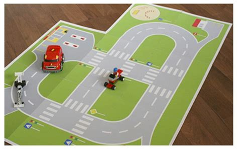 printable paper roads paper toy road playground printable toy paper kit paper doll