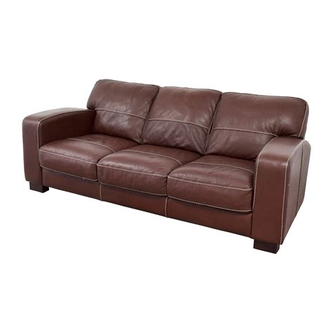 antonio leather sofa 62 off bob s furniture bob s furniture antonio brown