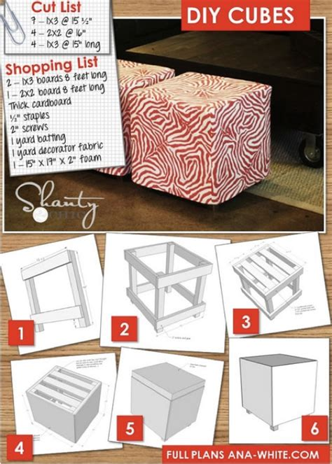 How To Make Your Own Ottoman Upholstered Cube Ottoman Plans Homestead Survival