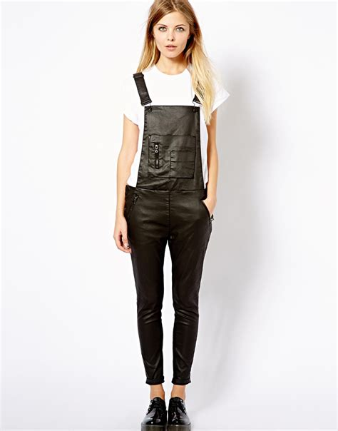 pull overall jumpsuit in black lyst
