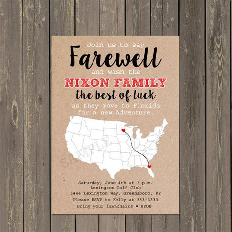 free printable invitation templates going away party going away party invitation farewell party invite moving