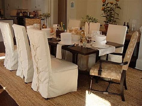 Dining Room Chair Slipcovers For On Budget Re Decoration Slipcovered Dining Room Chairs