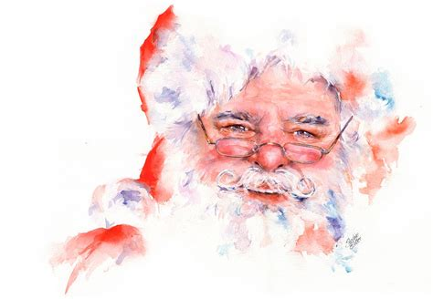 Home Decor App ho ho ho santa painting by stephie butler