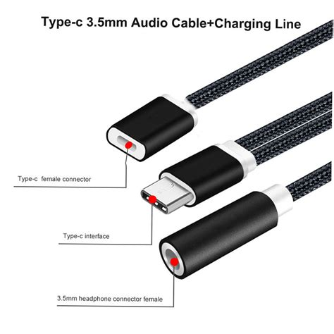 Sale Headphone Adapter 3 5mm 1 8 To 6 5mm 1 4 Stereo 1pcs Golde bakeey 2 in 1 type c to 3 5mm audio charger adapter