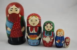 Russian family with papa matryoshka 7 quot matroyshka dolls russian