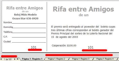 descargar formatos para crear boletos rifa gratis imprimir boletos de loteria fusi 243 n imposici 243 n