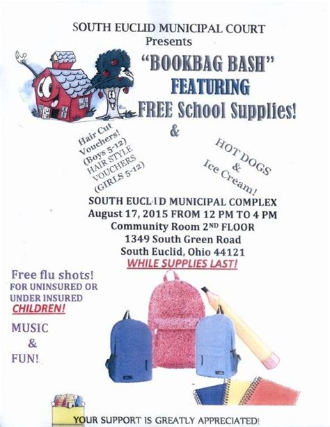 Euclid Municipal Court Search Semc To Sponsor Book Bag Giveaway Free Haircuts South