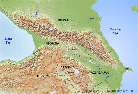 nau cus map caucasus mountains map