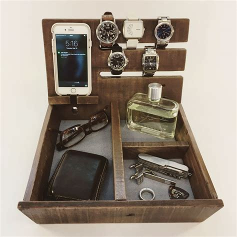 diy mens dresser valet double governor wooden valet the awesomer