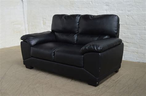 clearance leather sofas clearance oregon black 2 seater leather sofa t3019 ebay