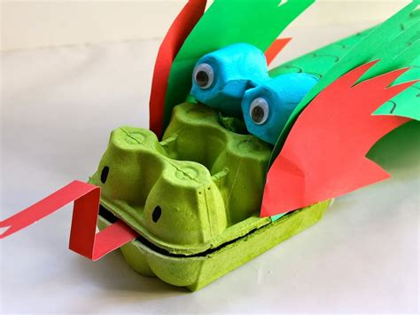 Real Home Decoration Games by How To Make An Egg Carton Dragon Youtube