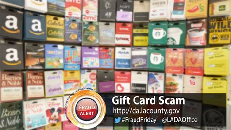 Gift Card Scam - no rewards in gift card scam los angeles county district attorney s office