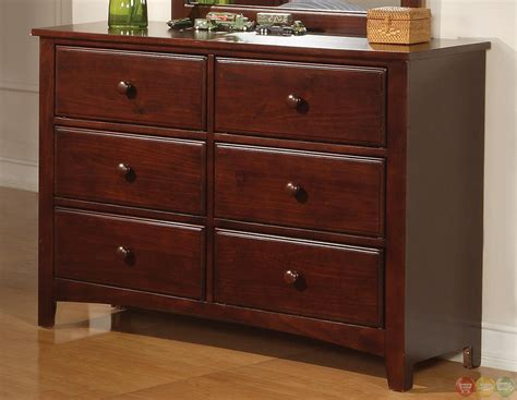 cherry finish bedroom furniture parker brown cherry finish twin panel bedroom furniture set