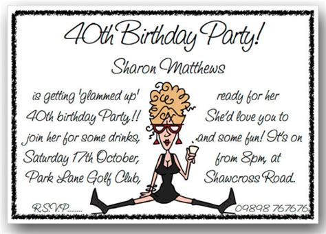 text for 40th birthday invitation birthday invitation wording dolanpedia invitations template