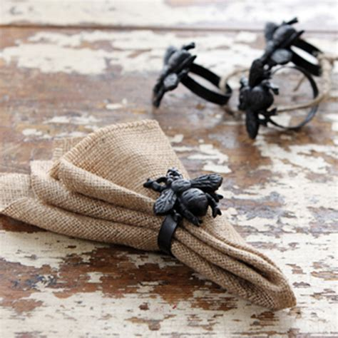 park hill collection bumble bee napkin rings set 4 shx019