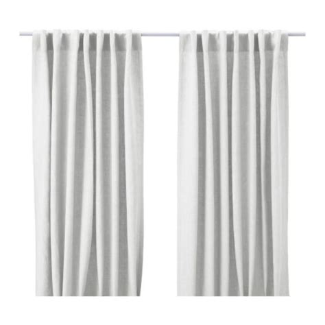 Ikea White Curtains Aina Curtains 1 Pair Ikea