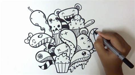 membuat doodle cara membuat gambar doodle sedehana sarungpreneur