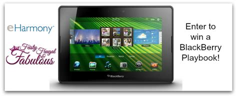 Blackberry Giveaway - win a blackberry playbook with eharmony giveaway