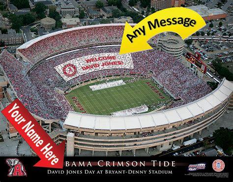 unique gifts for alabama fans alabama crimson tide football stadium personalized print