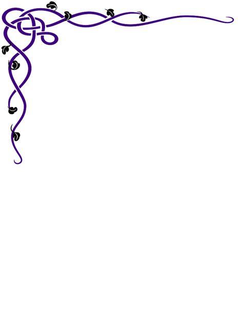 free clipart bridal shower borders bridal shower borders clip free printable purple swirl