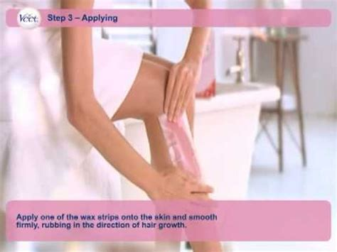 how to use hair removal for how to use veet s hair removal wax