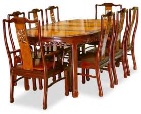 Dining Table Chairs Design 80in Rosewood Flower Design Oval Dining Table With 8 Chairs Asian Dining Tables By China