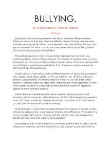 Cyber Bullying Essay by Essays On Cyber Bullying