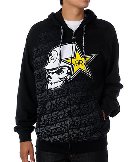 Hoodie Zipper Rockstar Zemba Clothing Metal Mulisha X Rockstar Bronx Black Hoodie Zumiez