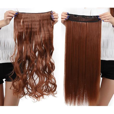 thick hair extensions extra thick long curly ombre one piece full head clip in