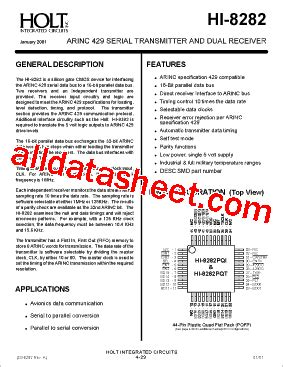 holt integrated circuits inc hi 8282 datasheet pdf holt integrated circuits
