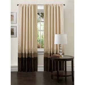 Discount Draperies And Curtains Lush D 233 Cor Mia Taupe Chocolate Window Curtains Pair 54