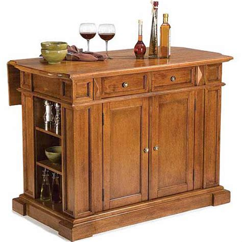 walmart kitchen island home styles traditions kitchen island distressed oak walmart