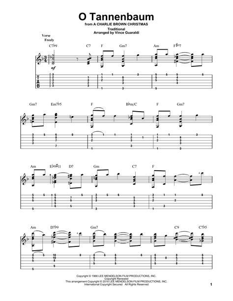 o tannenbaum lyrics and chords o tannenbaum by vince guaraldi arr guitar guitar instructor