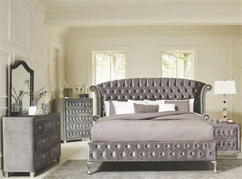 deanna grey velvet queen platform bedroom set  savvy discount furniture