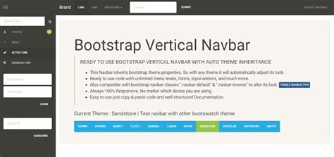 bootstrap navigation templates 15 bootstrap sidebar menu templates page 2 of 2