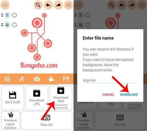 tutorial membuat logo hp cara membuat logo keren di android untuk olshop bisnis