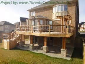 Ranch House Plans With Walkout Basement Custom Deck With Basement Walkout Interlock Toronto