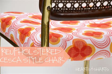 hearts and sharts furniture refurb reupholstered cesca style chair hearts